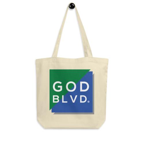 GOD BLVD - Big Logo Eco Tote Bag (Blue/Green)