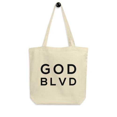 GOD BLVD - Logo Eco Tote Bag (Matthew 19:26)