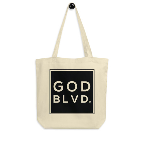 GOD BLVD - Big Logo Eco Tote Bag (Black) Matthew 19:26