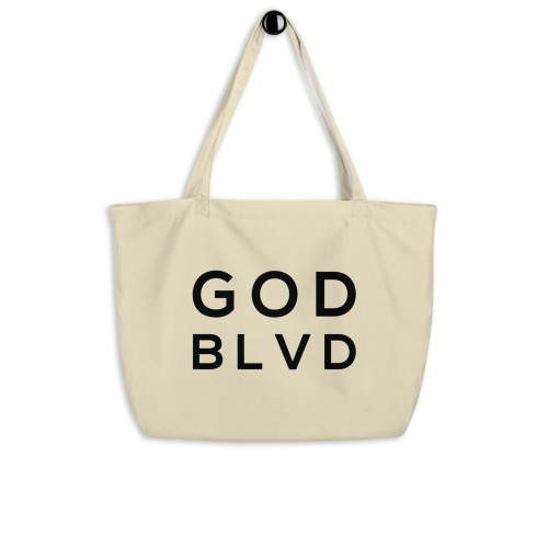 GODBLVD - Logo - Large Organic Tote Bag
