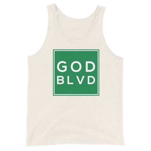 GOD BLVD - Logo Sign Tank Top (Green Print)
