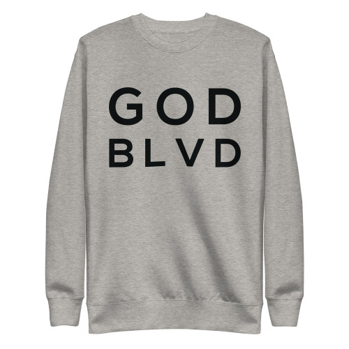 GOD BLVD - With God All Things Are Possible - Matthew 19:26 (Crewneck Sweatshirt)