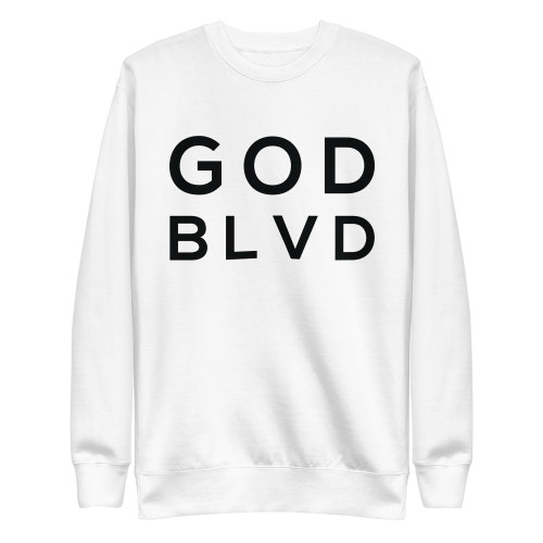 GOD BLVD - With God All Things Are Possible - Matthew 19:26 (Women's Crewneck Sweatshirt)