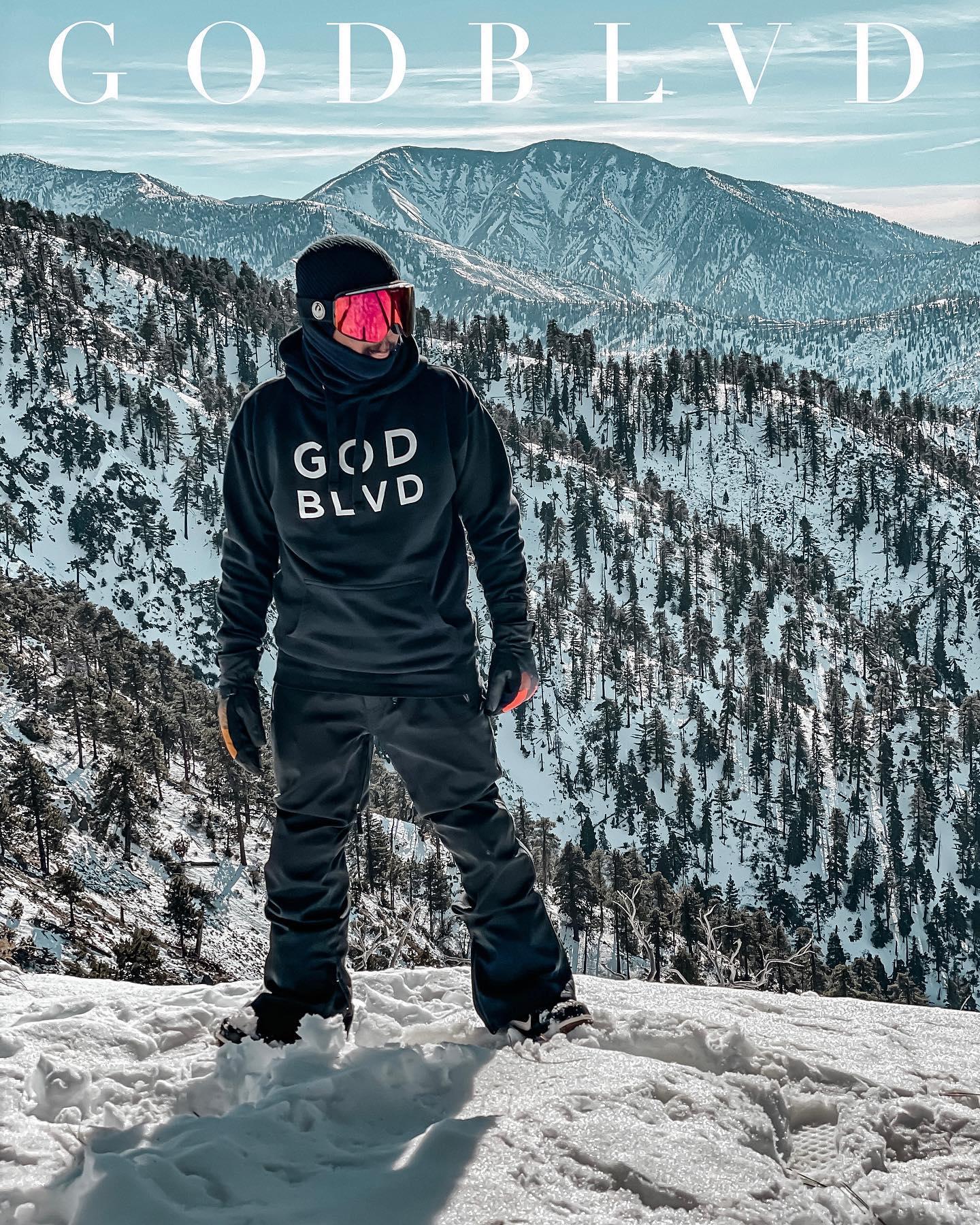 GOD BLVD - Black Hoodie Logo