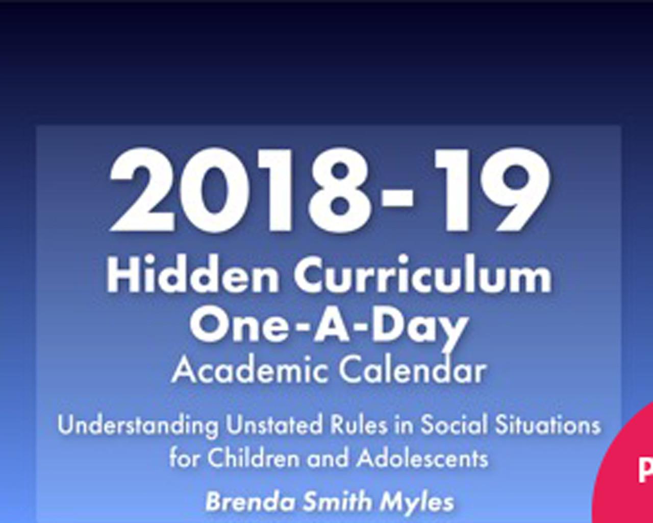 2018-2019 Hidden Curriculum Calendar