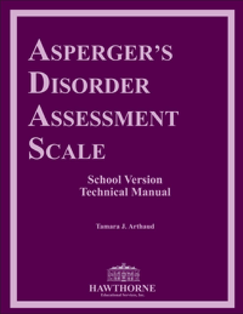 ASPGERGER'S DISORER ASSESSMENT SCALE[ADAS]  (COMPLETE KIT) Tamara J. Arthaud, Ph