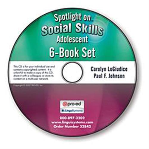 Spotlight on Social Skills Adolescent: 6-Book Set  or 6-CD Set  By Carolyn LoGiu