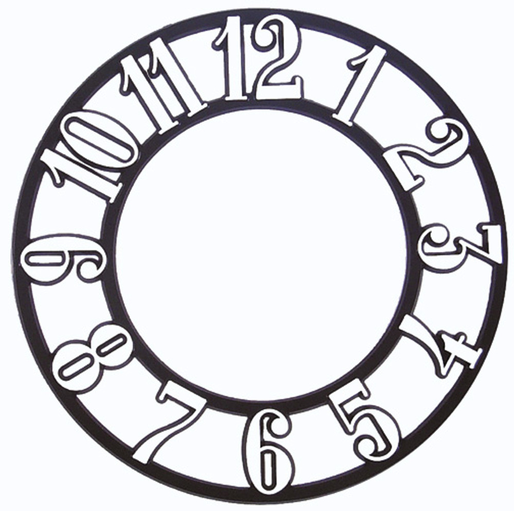Clock Time Ring with White Arabic Numerals and a black background.