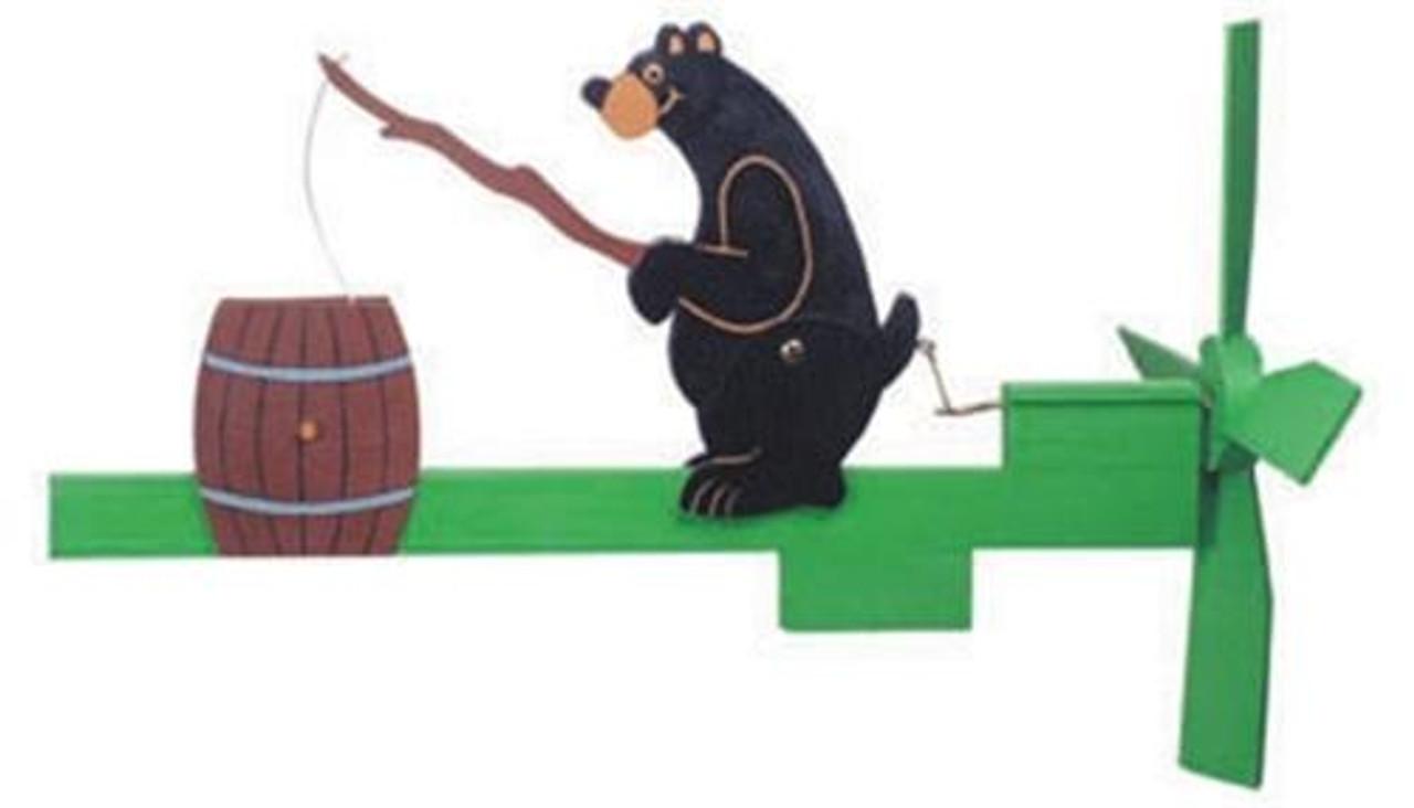 Cherry Tree Toys Fishing Bear Whirligig Plan