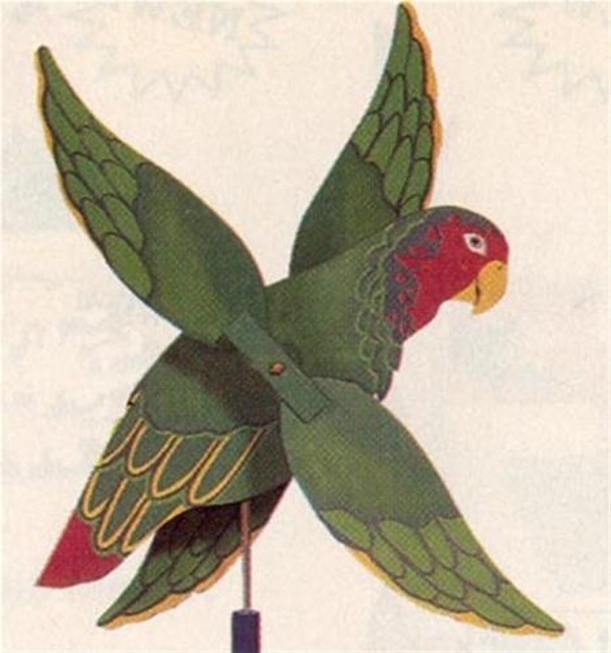 Cherry Tree Toys Green Parrot Whirligig