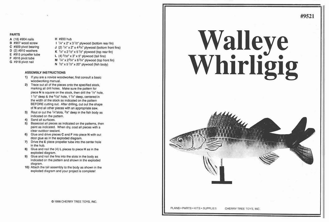 Cherry Tree Toys Walleye Whirligig Plan