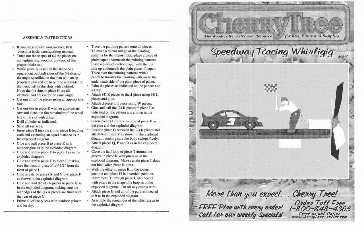 Cherry Tree Toys Lil Speedway Whirligig Plan