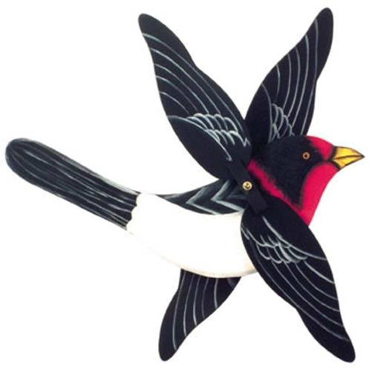 Cherry Tree Toys Red Breasted Warbler Whirligig Parts Kit