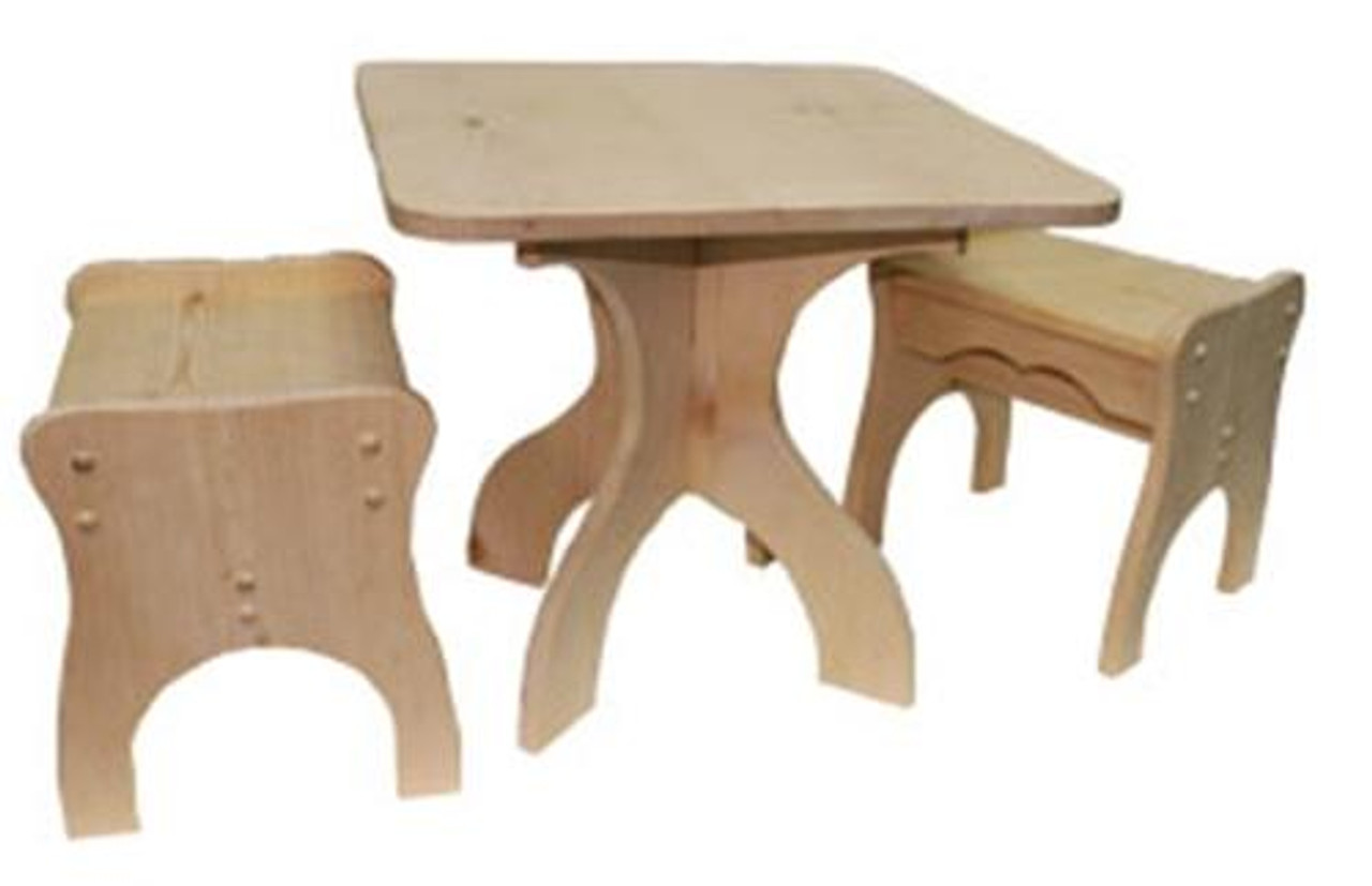 Cherry Tree Toys Game Table and Chairs Ready to Assemble Kit
