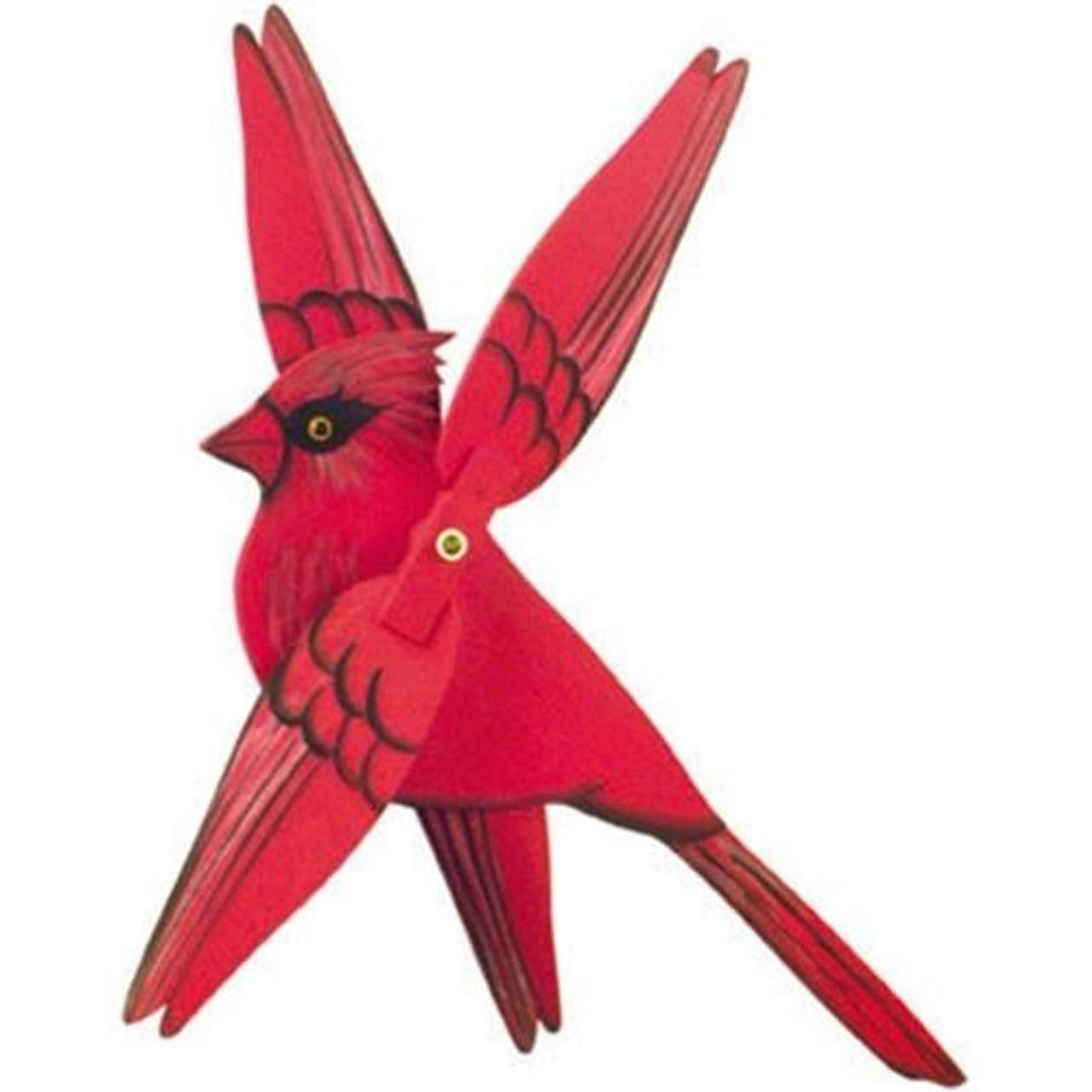 Cherry Tree Toys Male Cardinal Whirligig DIY Kit
