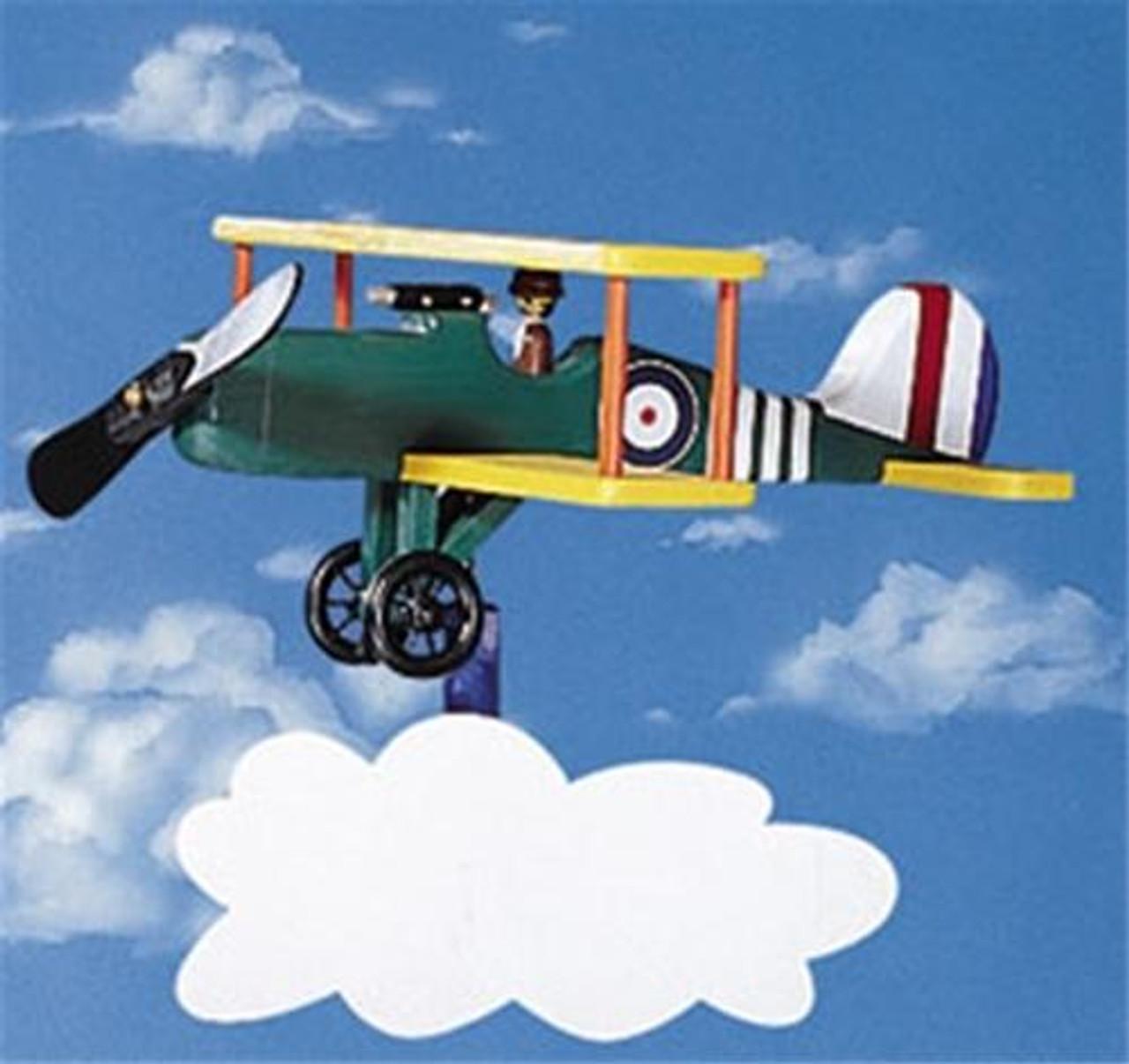 Cherry Tree Toys Bi Plane Whirligig DIY Kit