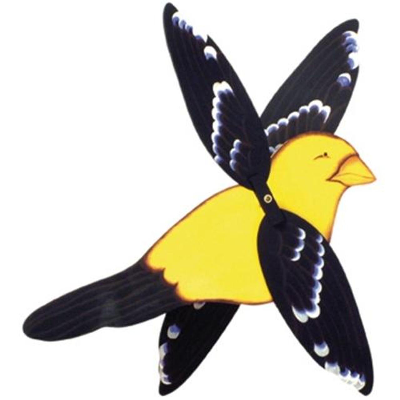 Cherry Tree Toys Yellow Grosbeak Whirligig DIY Kit