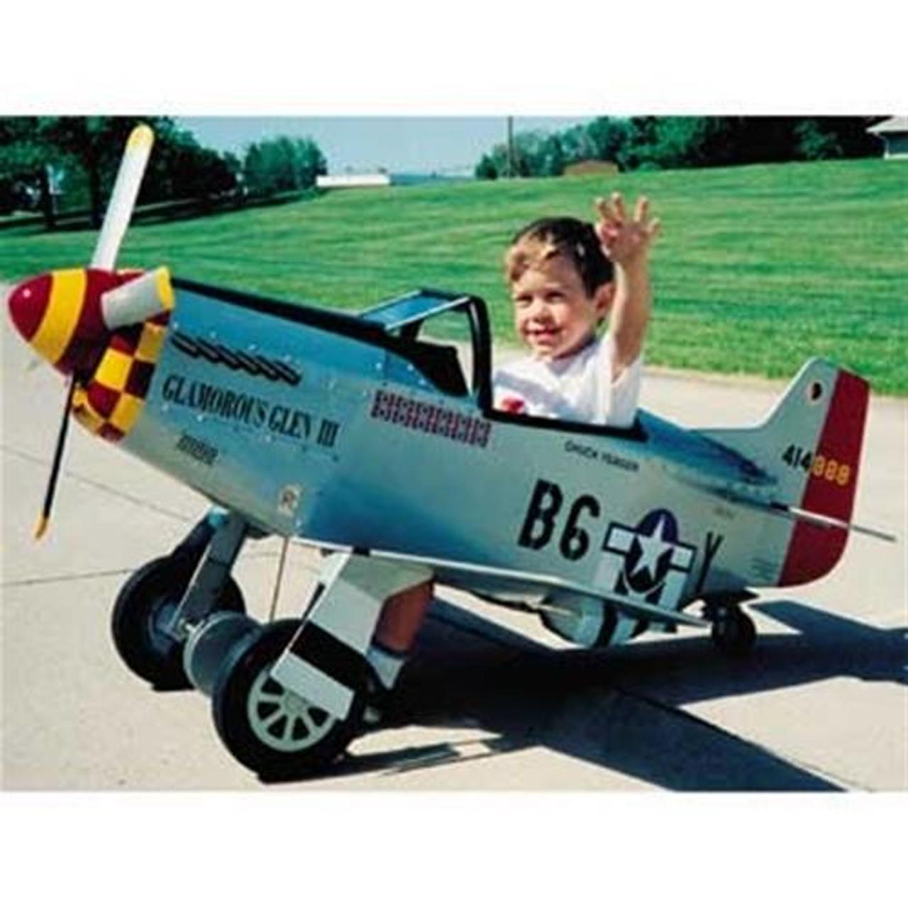 Pedal P-51 Mustang Woodworking Plan