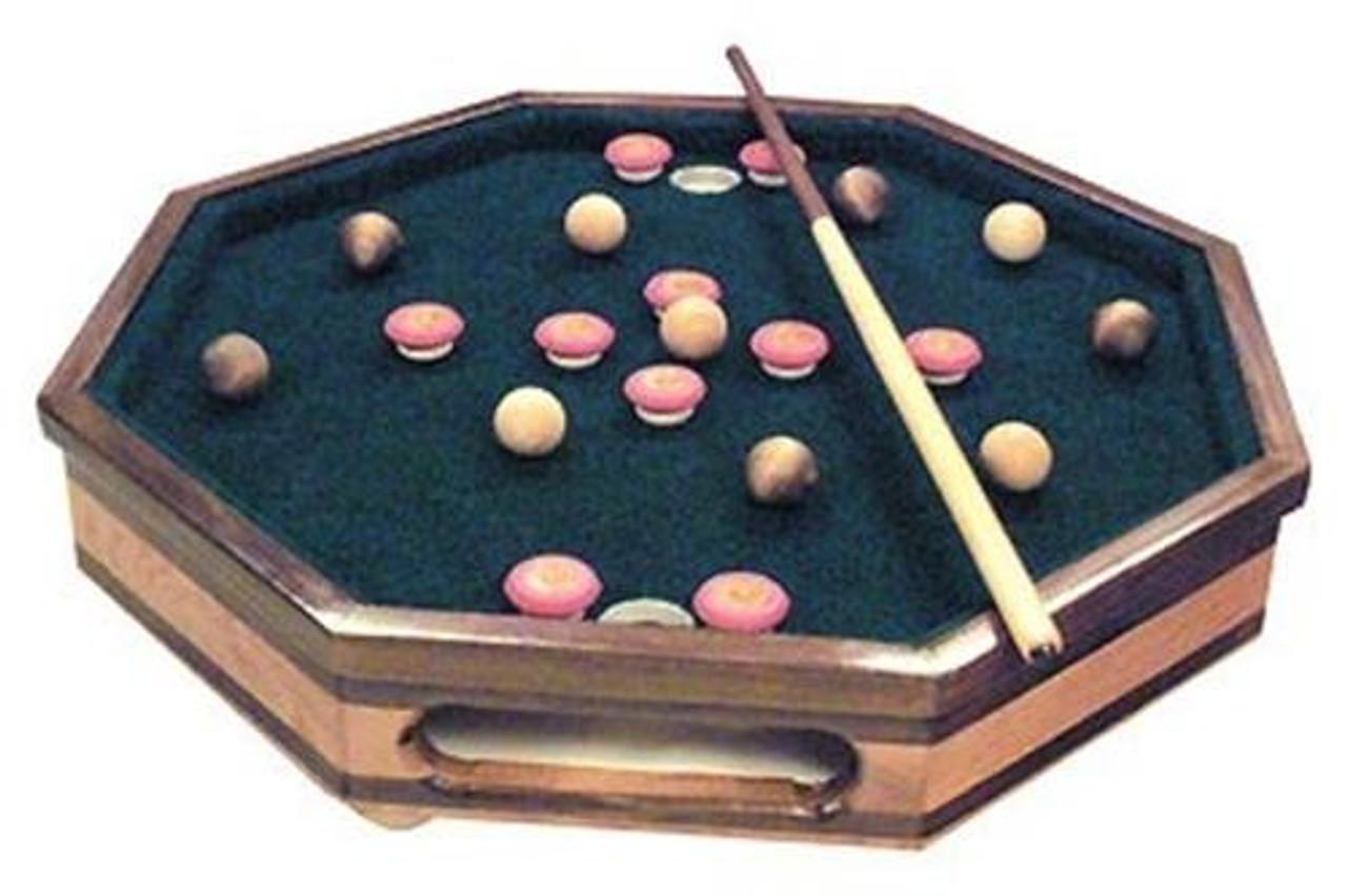 Cherry Tree Toys Tabletop Bumper Pool Game Plan