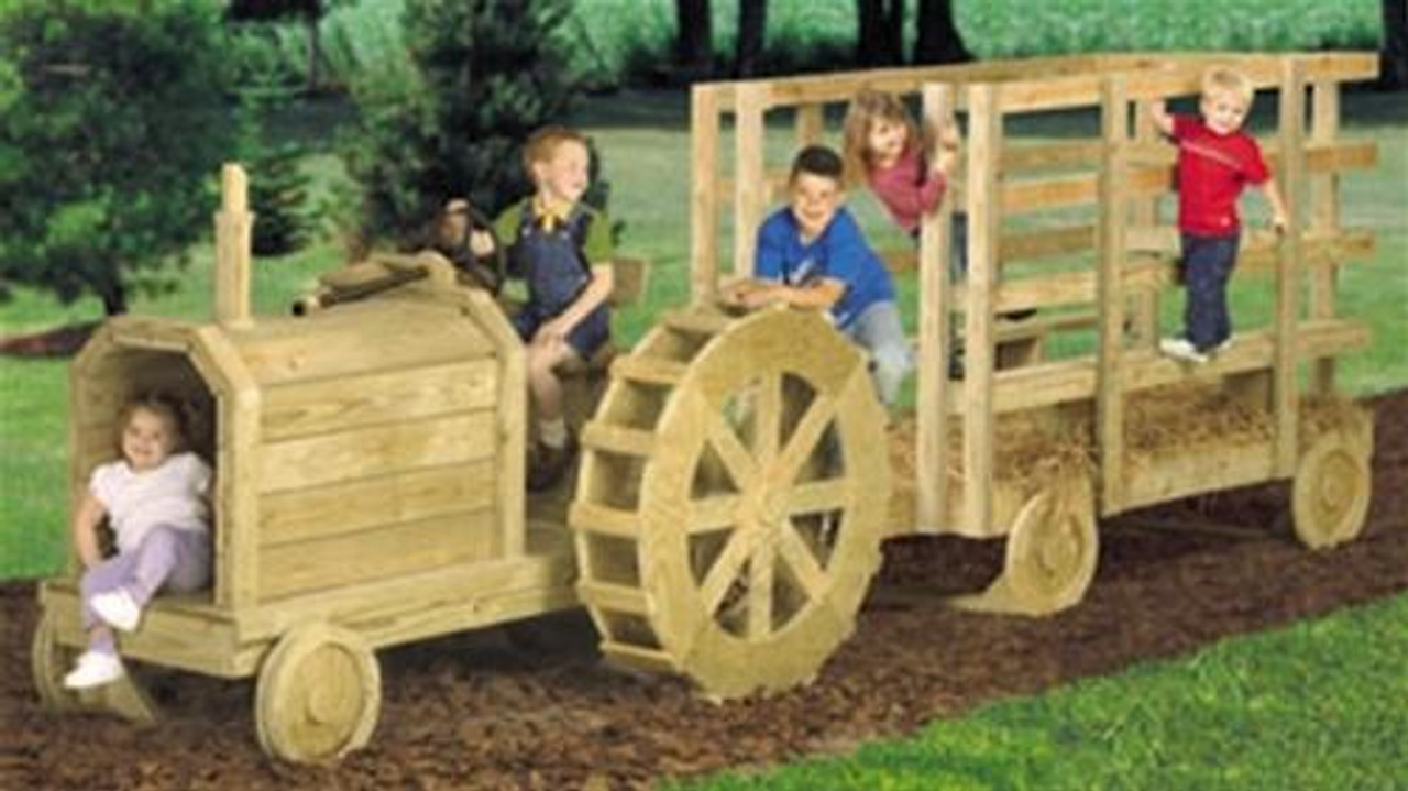 Winfield CollectionFarm Tractor and Hay Wagon Play Set Woodworking Plan.