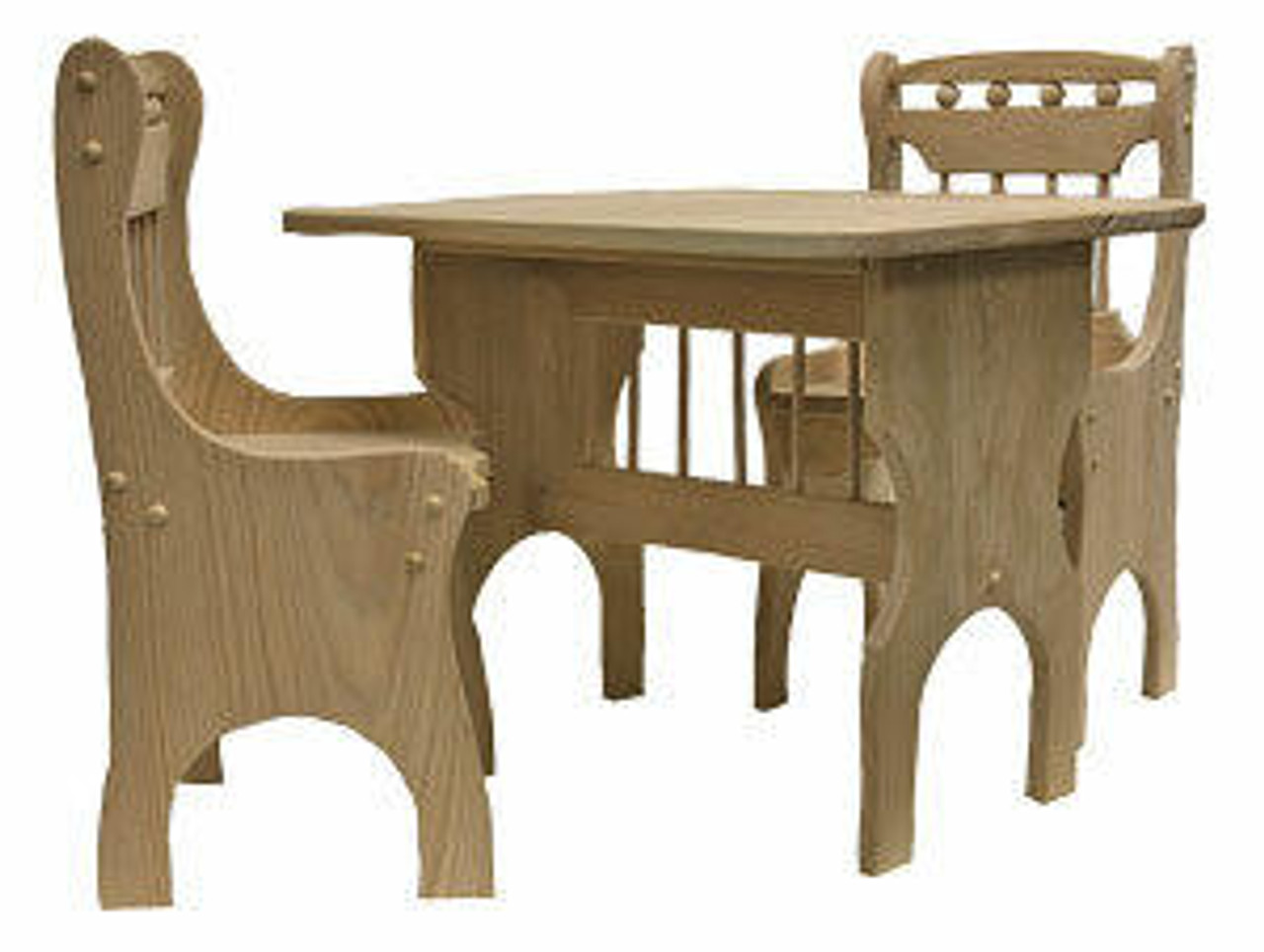 Cherry Tree Toys Childrens Table and Chairs Plan