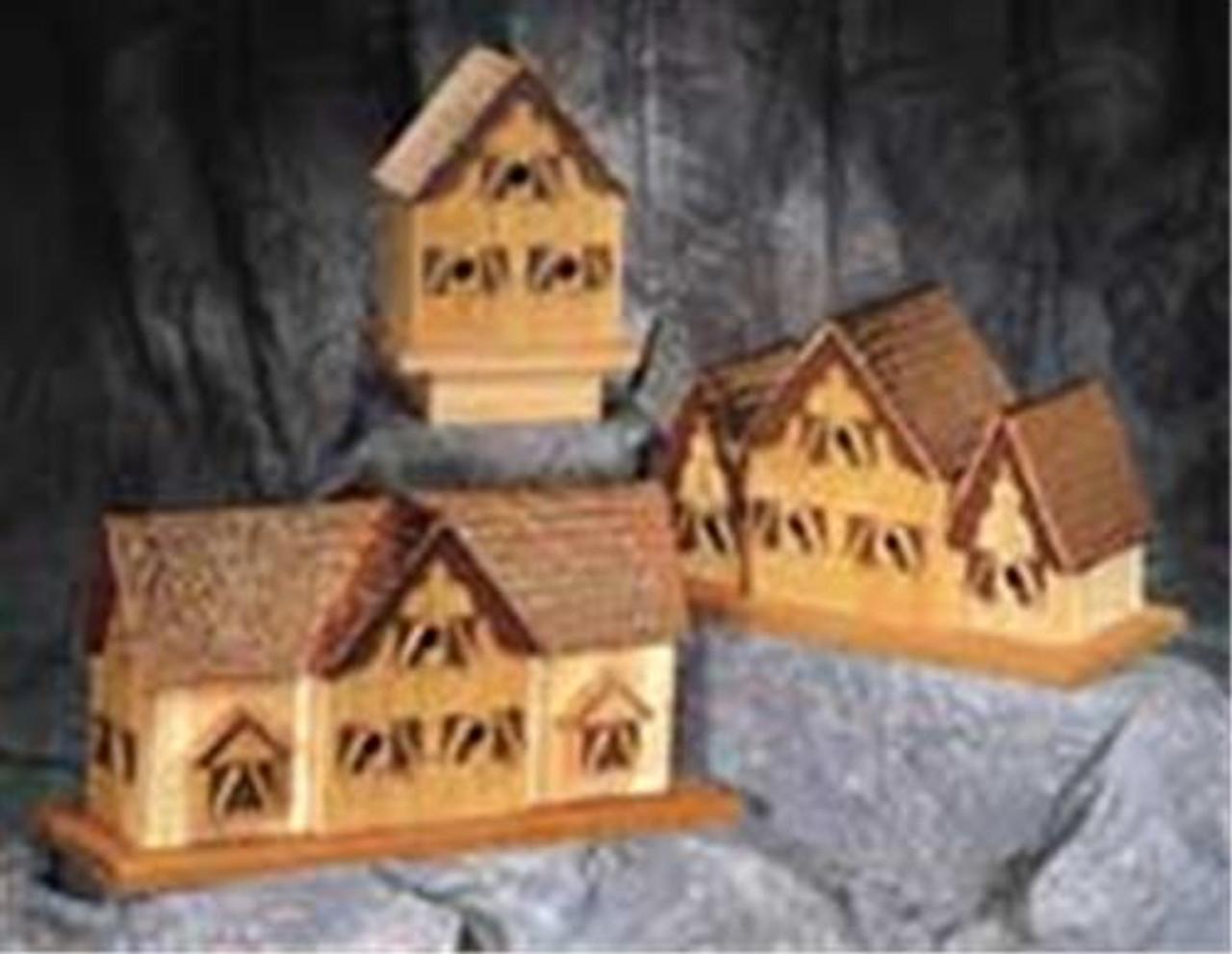 Cherry Tree Toys Three Roof Alpine Birdhouse Plan