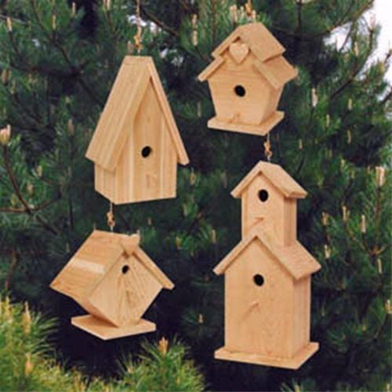 SherwoodBirdhouse Village Woodworking Plan.