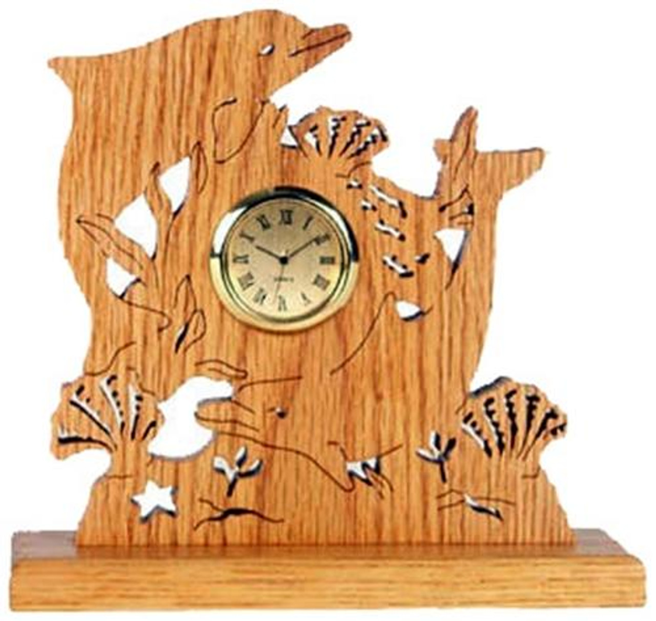 Wildwood Designs Playful Dolphins Clock Plan