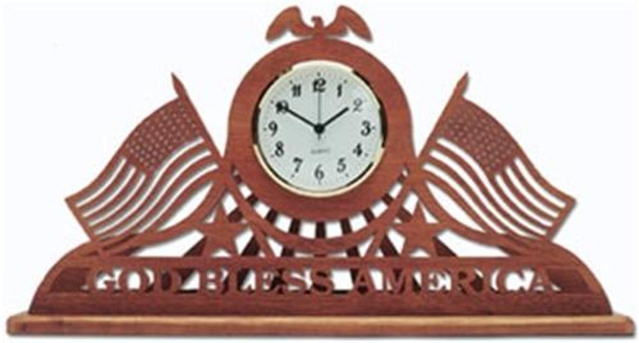 Wildwood Designs God Bless America Clock Plan