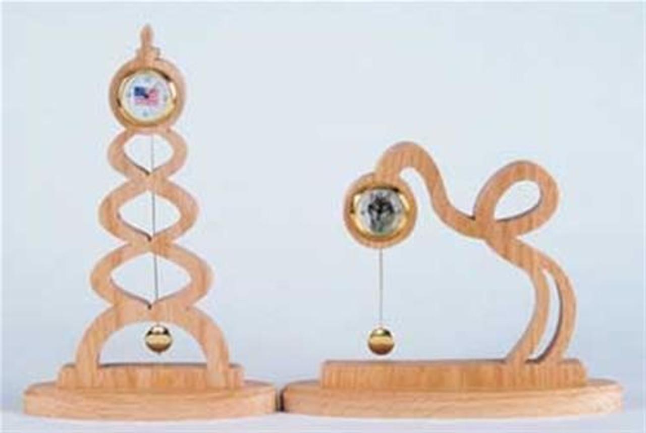 Wildwood Designs Two Curvy Clocks Plan