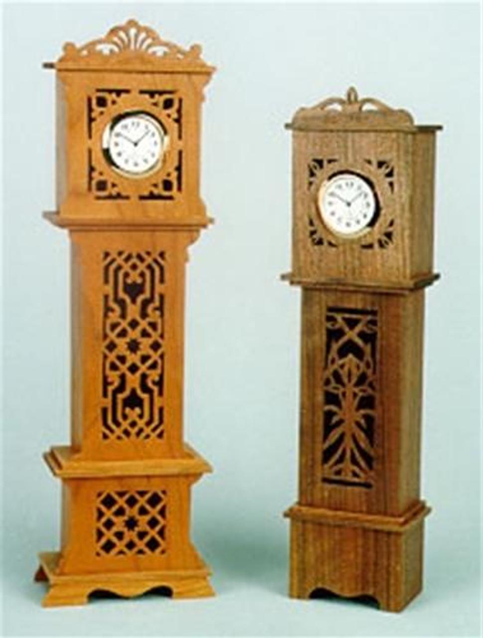 Wildwood Designs Two Mini Grandpa Clocks Plan
