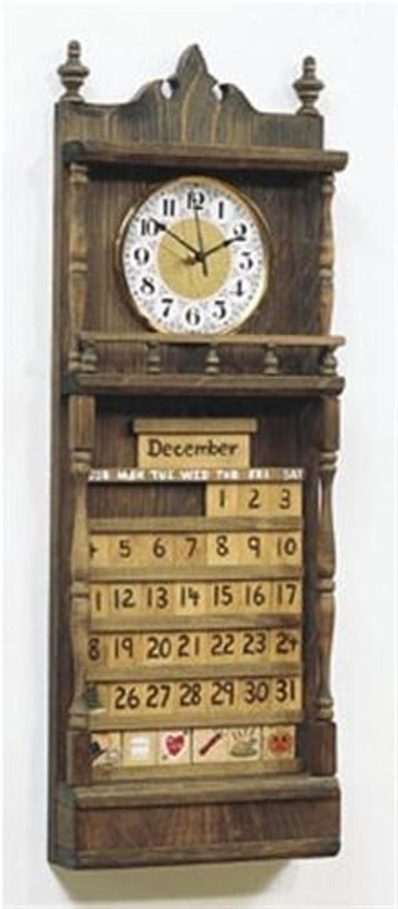 Cherry Tree Toys Calendar Clock Plan