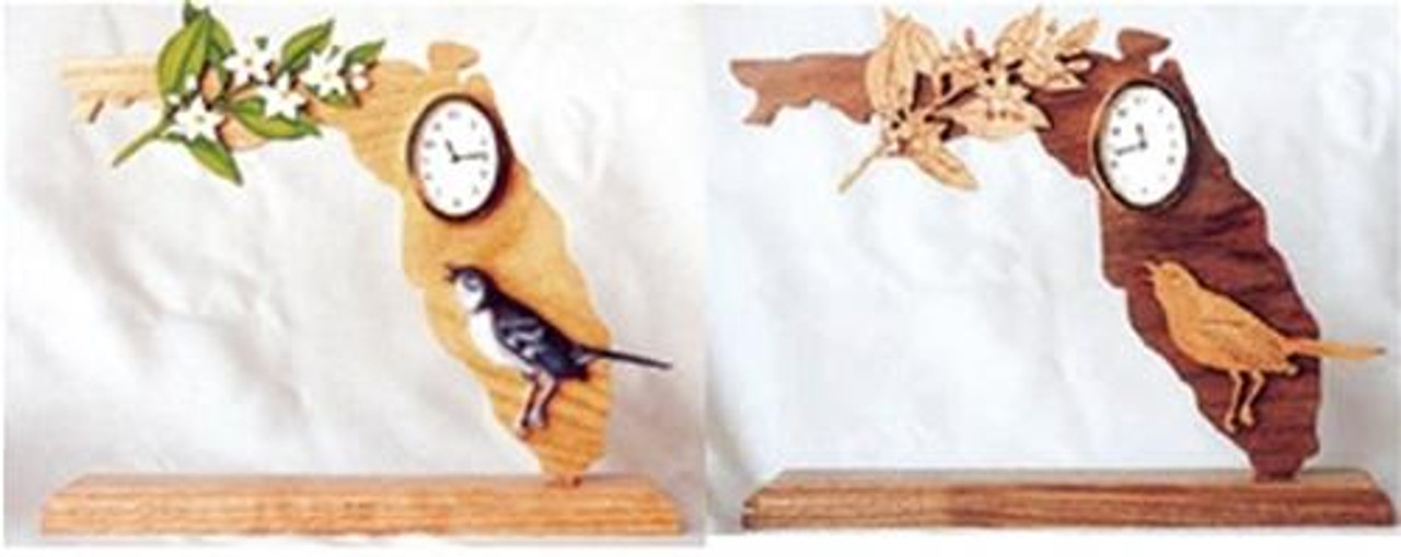 Wildwood Designs Florida Scroll Saw Clock Pattern