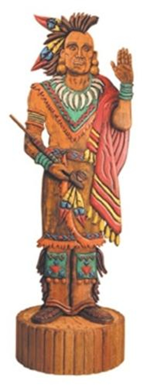 Cherry Tree Toys 4 Foot Indian with Peace Pipe Plan