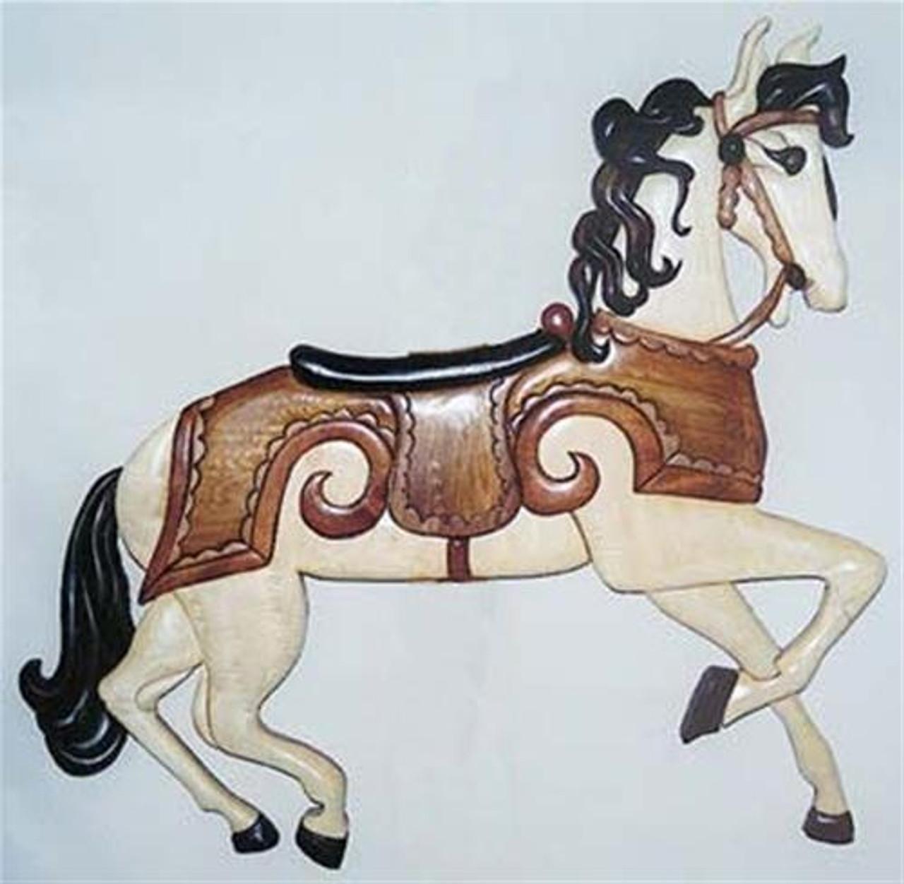 Cherry Tree Toys Carousel Horse Intarsia Plan