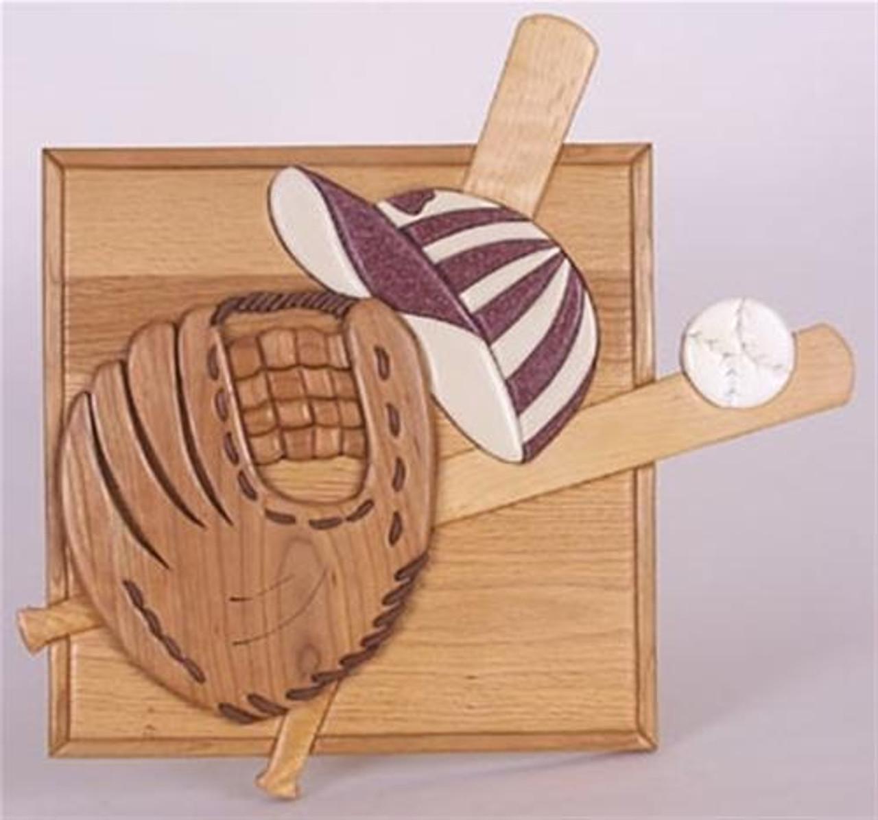 Cherry Tree Toys Baseball Intarsia Plan
