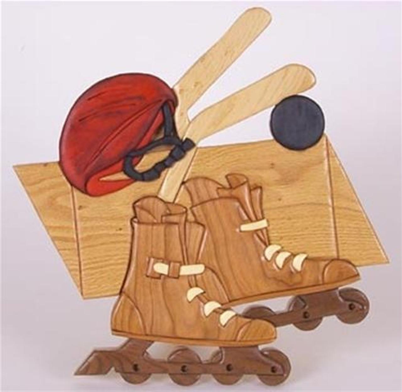 Cherry Tree Toys Hockey Intarsia Plan