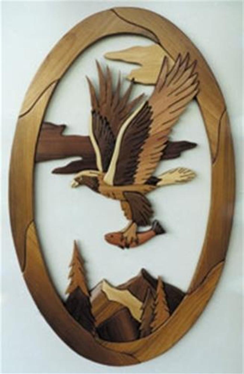 Cherry Tree Toys Eagle with Fish Intarsia Plan