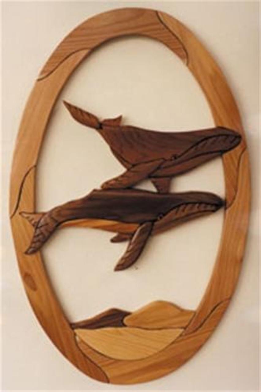 Cherry Tree Toys Humpback Whales Intarsia Plan