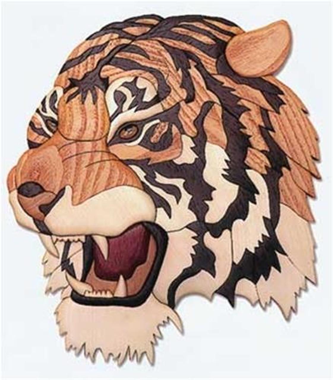 Cherry Tree Toys Tiger Head Intarsia Plan