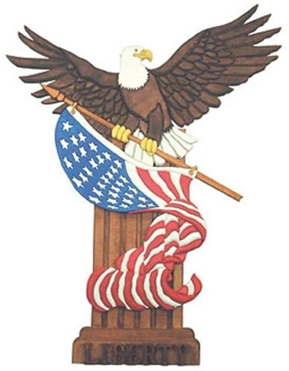 Cherry Tree Toys Liberty Eagle Intarsia Plan