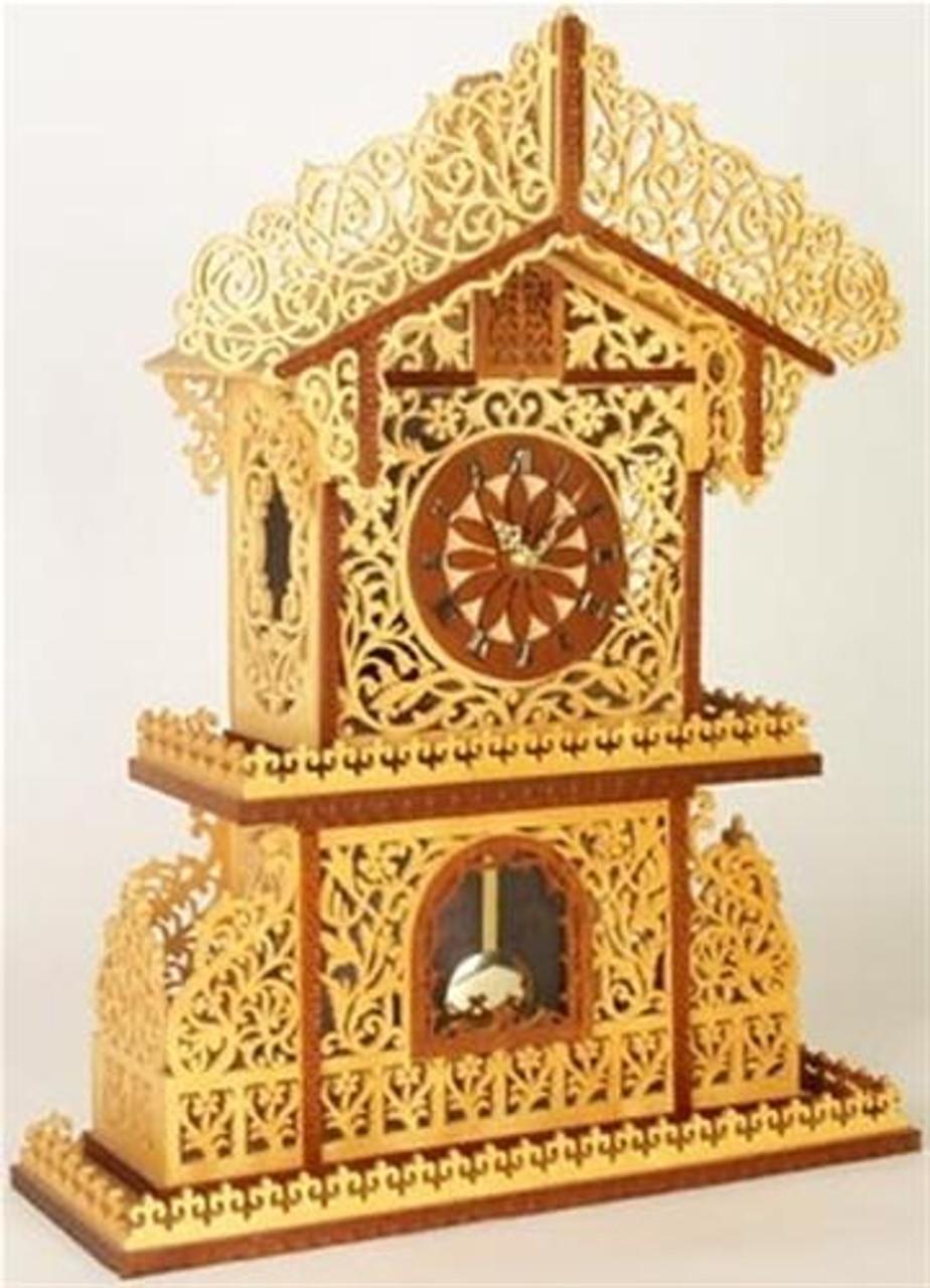 Wildwood Designs Floral Mantel Scroll Saw Clock Plan