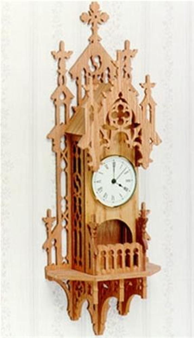 Wildwood Designs Gothic Wall Scroll Saw Clock Plan