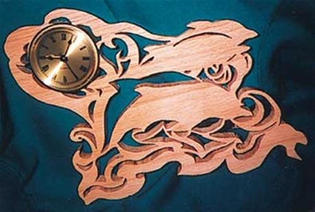 Wildwood Designs Dolphins Jumping Scroll Saw Clock Plan