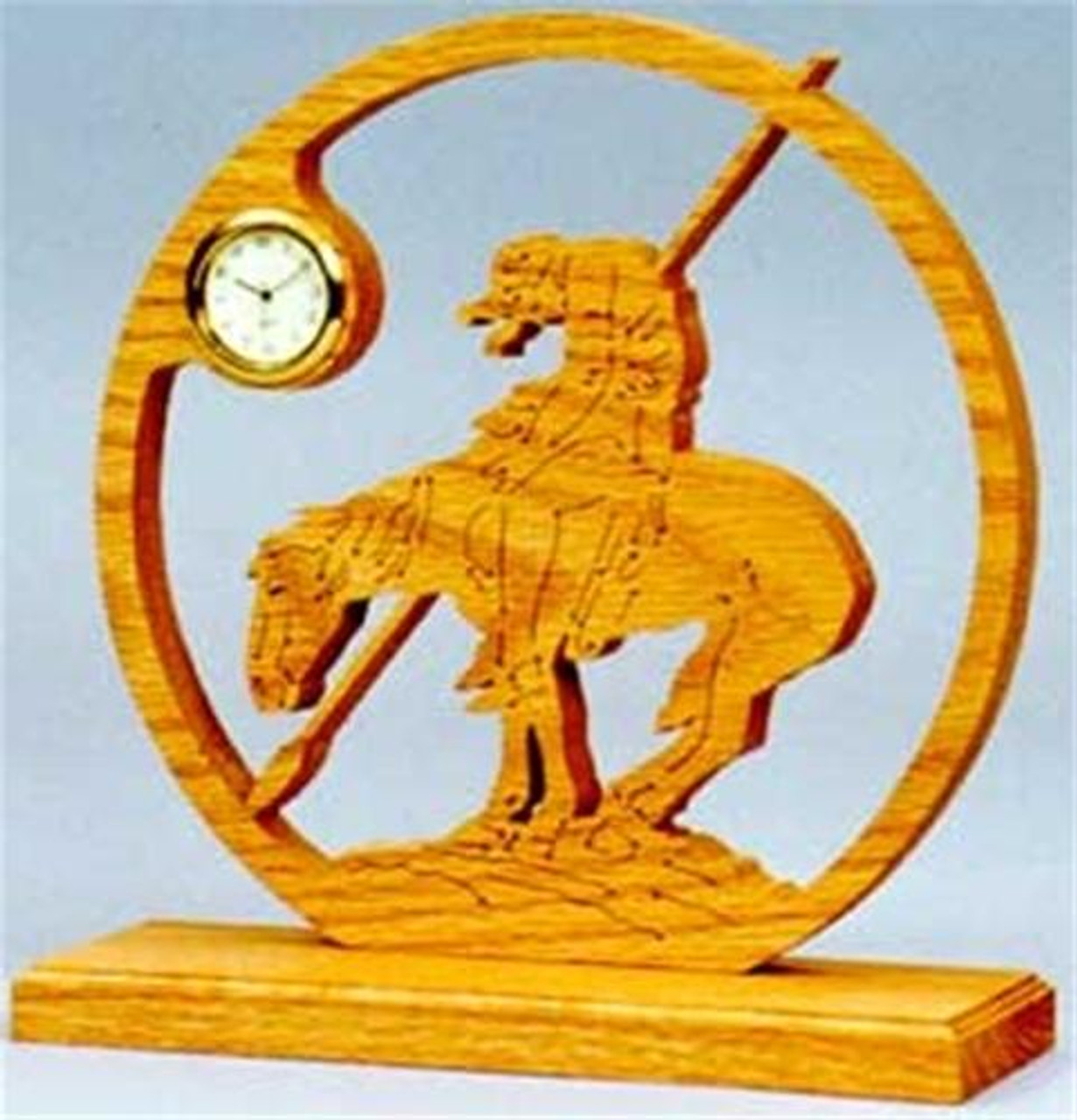 Wildwood Designs End of the Trail Scroll Saw Clock Plan