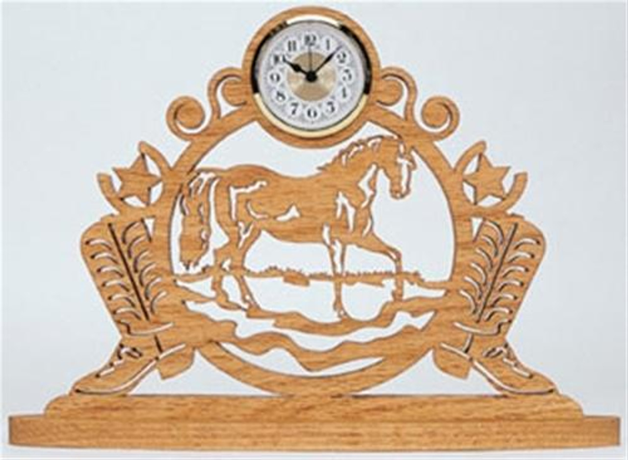 Wildwood Designs Western Horse Scroll Saw Clock Plan