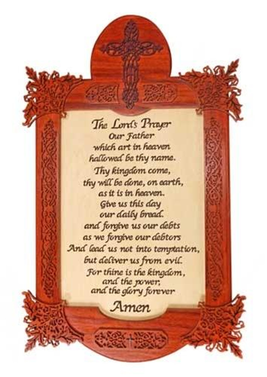 Wildwood Designs Lords Prayer Scroll Saw Plan