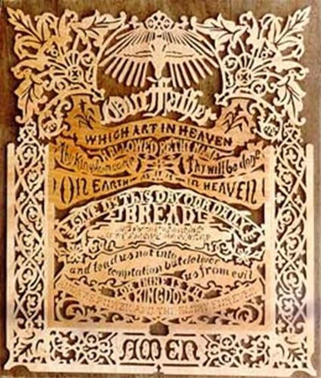 Wildwood Designs Small Lords Prayer Scroll Saw Plan