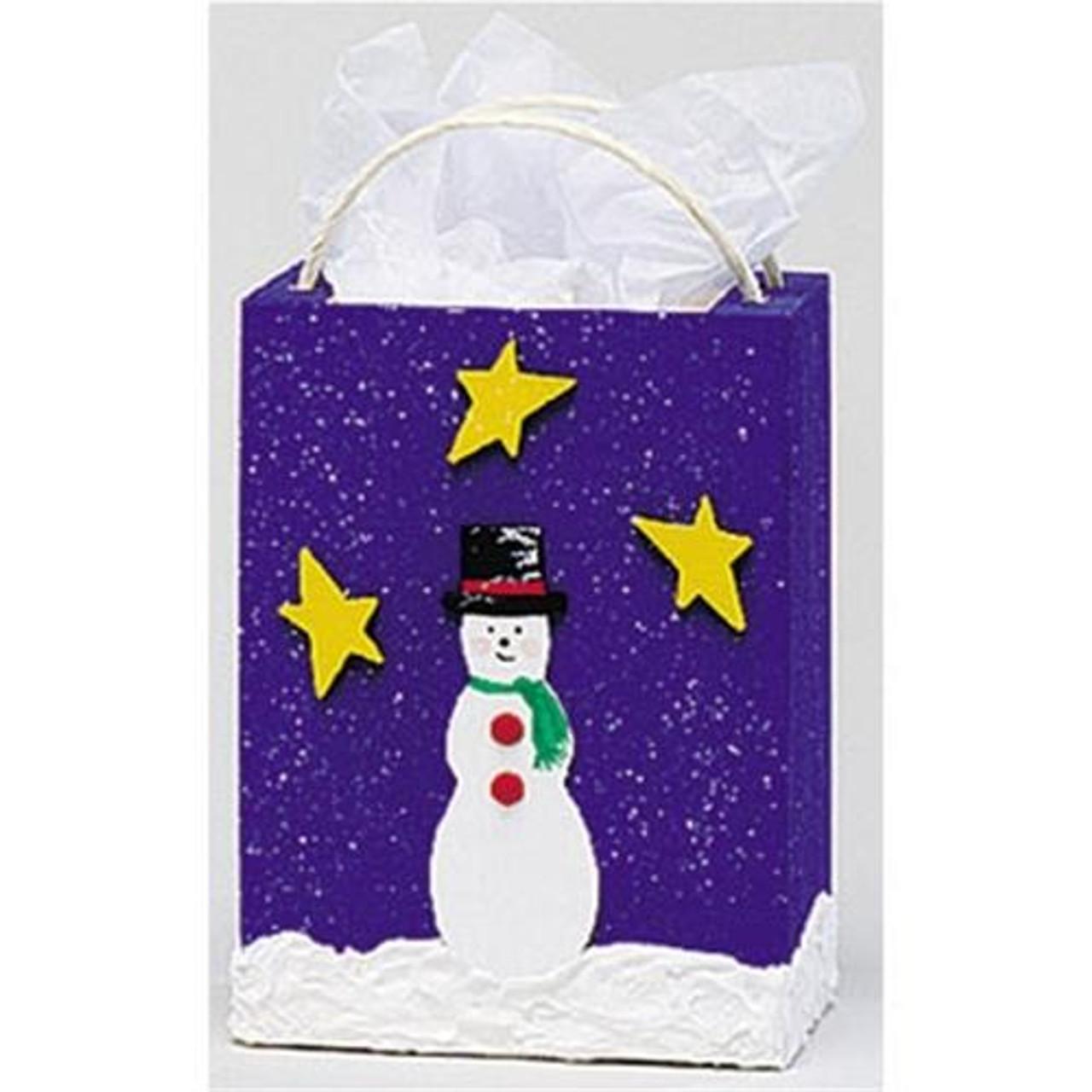Cherry Tree Toys Small Snowman Gift Bag Plan