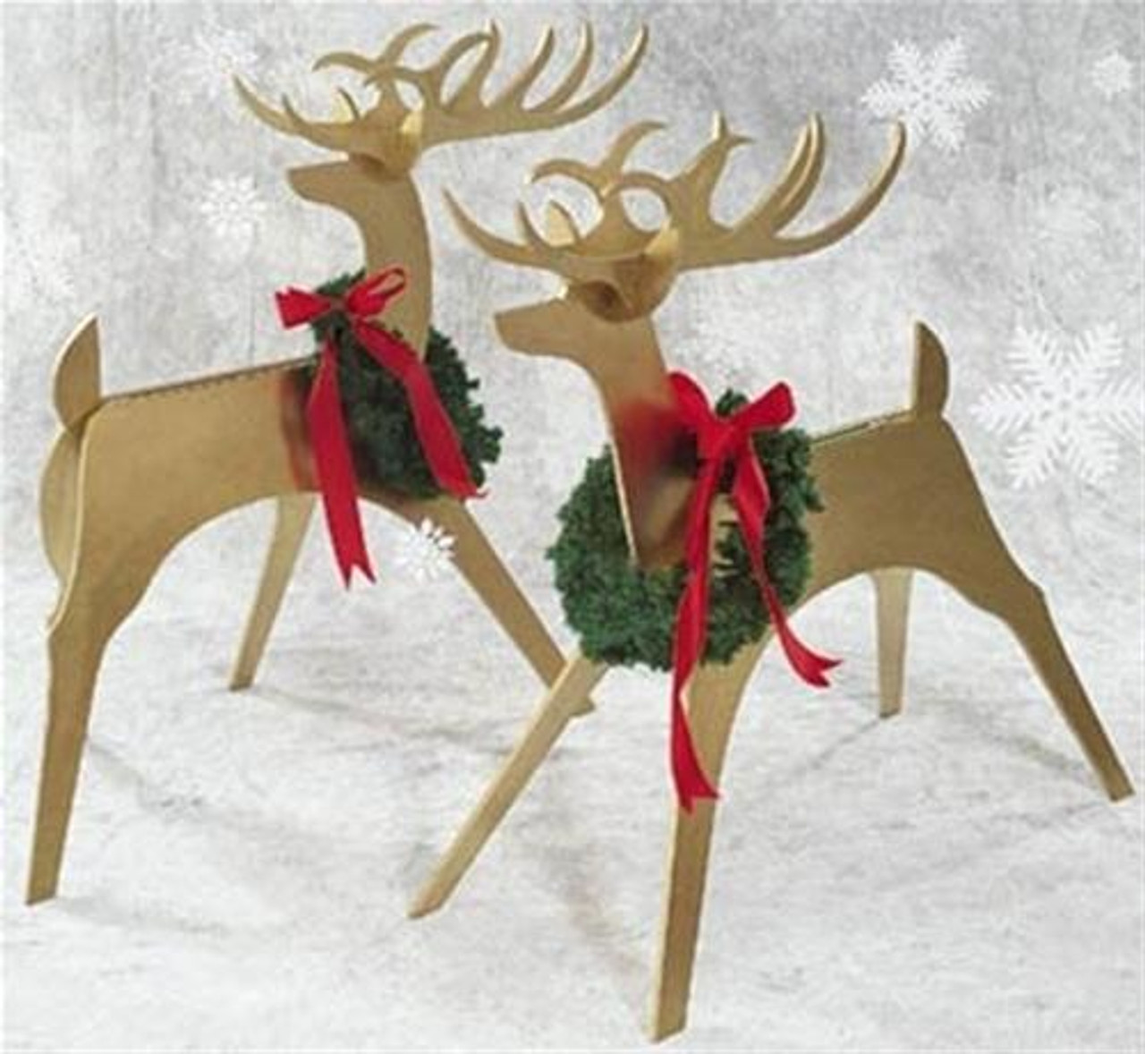 Sleek and Stylish Reindeer Woodworking Plan would make the perfect holiday gift.